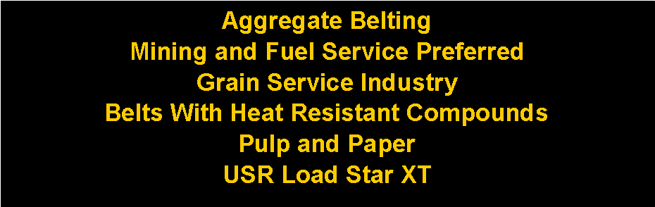 Text Box: Aggregate Belting 
